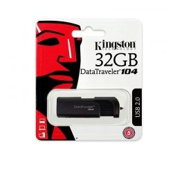 USB памет 32GB Kingston DataTraveler 104, USB 2.0 , Черен