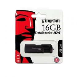 USB памет 16GB Kingston DataTraveler 104, USB 2.0 , Черен