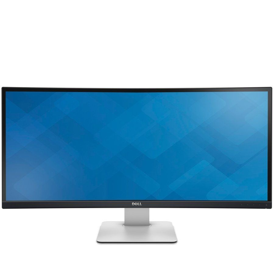 Dell U3415W UltraSharp 34'' in Curved Monitor, Widescreen (21:9), anti glare, 3440 x 1440, 1000:1, 300 cd/m2, 5ms, 178° vertical / 172° horizontal,Height-adjustable stand, tilt, swivel,HDMI, MHL, mini DP, DP, 4xUSB, SPK, Black/ Grey, 3Y, (210-ADYS)