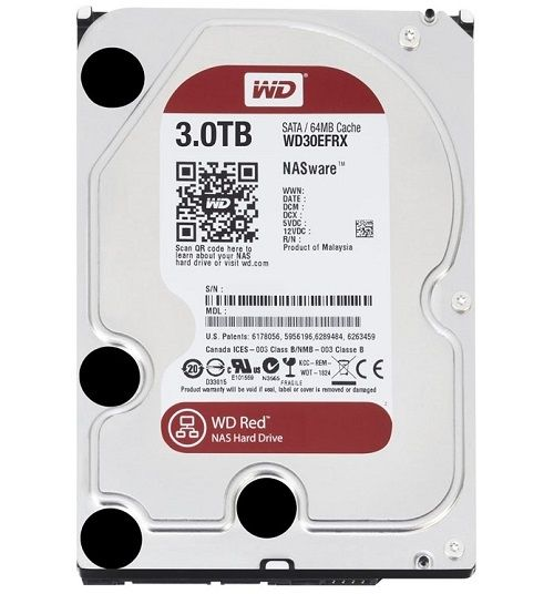 HDD 3TB SATAIII WD Red 64MB for NAS (3 years warranty)