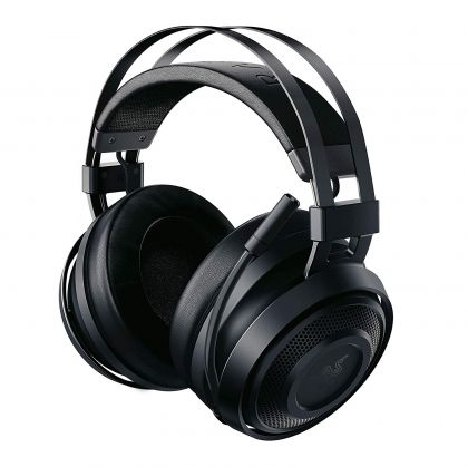 Razer Nari Essential, Wireless Gaming headset with Lag-Free Performance, THX Spatial Audio, 16-Hour Battery Life, Flip Mic with Quick Mute Function, Frequency response: 20 Hz – 20 kHz, Impedance: 32Ω at 1 kHz, 40 mm drivers with Neodymium magnets