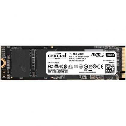 Crucial P1 1000GB 3D NAND NVMe PCIe M.2 SSD