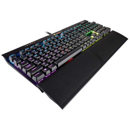 Геймърска клавиатура Corsair K70 RGB MK.2 (CH-9109010-NA), Mechanical, RGB Backlit, Cherry MX Red, US layout, Black