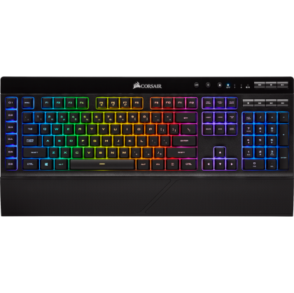 Безжична геймърска клавиатура Corsair K57 RGB Wireless (CH-925C015-NA), RGB Backlit CAPELLIX LED, US layout, Black
