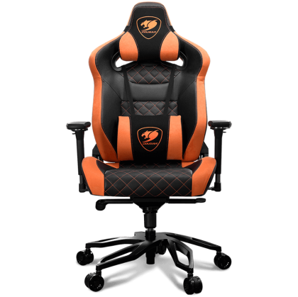 Геймърски стол COUGAR Armor Titan PRO (CG3MTITANS0001), Gaming chair, Suede-Like Texture, Body-embracing High Back Design, Breathable Premium PVC Leather, Memory Head Pillow & Lumbar Pillow, 170º Reclining, 4D Adjustable Arm Rest, Class 4 Gas Lift Cylinde