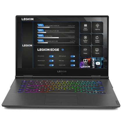Лаптоп Lenovo Legion Y740 , Intel® Core™ i7-9750H (12M Cache, 2.60 GHz up to 4.50 GHz, 6 Cores), 15.6