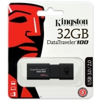 USB памет 32GB Kingston DataTraveler 100 G3, USB 3.0 , Черен