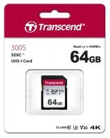 Памет Transcend 64GB SDHC I, UHS-I U1, read-write: up to 95MBs, 45MBs