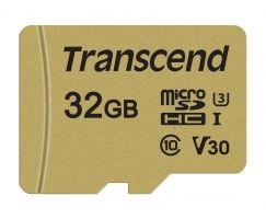 Памет Transcend 32GB microSDHC I, Class 10, U3, V30, MLC with Adapter, read: up to 95MBs, 60MB/s