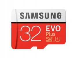 Samsung MicroSD card EVO+ series with Adapter, 32GB , Class10, UHS-1 Grade1 , Speed Read 95MB/s,Speed Write 20MB/s