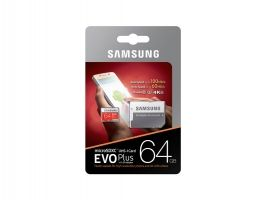 Samsung MicroSD card EVO+ series with Adapter, 64GB , Class10, UHS-1 Grade3 , Speed Read 100MB/s,Speed Write 60MB/s