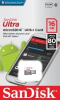 SanDisk Ultra Android microSDHC 16GB 80MB/s Class 10; EAN: 619659161613