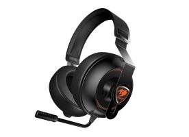 COUGAR Phontum Essential - Black, Stereo Gaming Headset, 40mm Driver, Extra Large Foam Ear Pad, Steel Headband, Noise Cancellation Microphone, Volume and Microphone Mute Controls​​