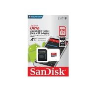SanDisk Ultra Android microSDXC 128GB + SD Adapter + Memory Zone App 100MB/s A1 Class 10 UHS-I; EAN: 619659160395