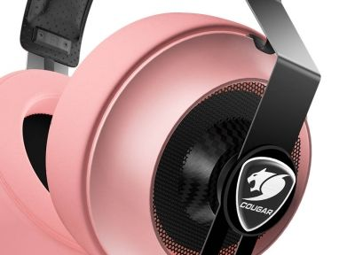 COUGAR Phontum Essential - Pink, Stereo Gaming Headset, 40mm Driver, Extra Large Foam Ear Pad, Steel Headband, Noise Cancellation Microphone, Volume and Microphone Mute Controls​​