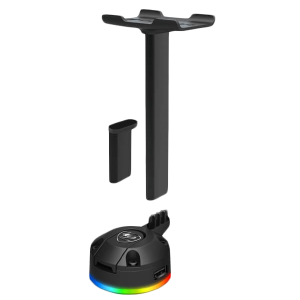Стойка за слушалки COUGAR Bunker S RGB Headset Stand, Two modes - Standard & Case mode, RGB with 14 lighting effects.80 x 70 x 255/90 (mm)