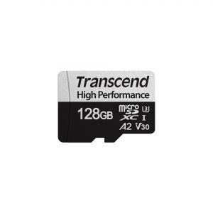 Памет Transcend 128GB microSDXC I UHS-I U3, V30, A2 for (4K Ultra HD recordings and game consoles) Class10 with Adapter, read-write: up to 100MBs, 85MBs
