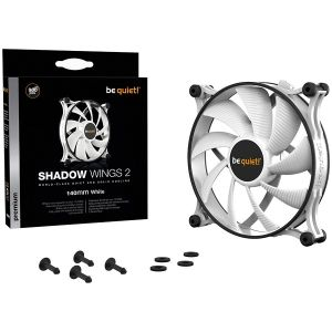 Охладител Be quiet! Shadow Wings 2 WHITE 140mm, Fan speed: 900 (rpm), Noise level dB(A): 14.7, 3 years warranty