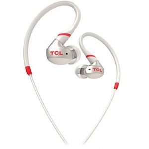 Слушалки TCL ACTV100 , In-ear Wired Sport Headset, IPX4, 3.5mm jack, Crimson White