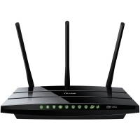Рутер TP-Link Archer C7 AC1750 Dual Band Wireless Gigabit Router, Atheros, 3T3R, 1300Mbps at 5Ghz + 450Mbps at 2.4Ghz, 802.11ac/a/b/g/n, 4-port Gigabit Switch, Wireless On/Off and WPS button, 2 USB ports, 3 external antennas