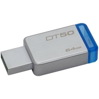 USB памет 64GB Kingston DataTraveler 50 , USB 3.0 , Син