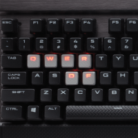 Геймърска клавиатура Corsair Gaming™ K70 LUX Mechanical Gaming Keyboard - Red LED -Cherry MX Red) NA