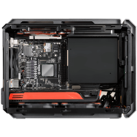 Chassis COUGAR QBX-EU, Mini-ITX Case,Dimension (WxHxD) 178x 291x384 (mm), Supports ONLY Slot Loading Slim ODD,Cooling System Max. Supported Installation: 7 Fans, CM, Fan Filter (Cleanable), Water cooling support