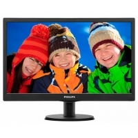 "Монитор Philips 193V5LSB2/10 / 18.5"" TN/ HD (1366x768)/ 16:9/ 5ms/ 200 cd/m2/ 10 000 000:1/ VGA/ Черен"
