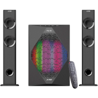 "Multimedia Speakers F&D T-300X 2.1 TV, 17.5Wx2+35W (70W  RMS), Satellite driver: 2"" full range, Subwoofer driver: 8"" bass, 30Hz~ 104Hz,  BT 4.0, microphone included, Multicolored LED Themes"