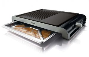 Philips Настолен грил Table Ribbed/Smooth plate 2300 W