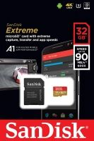 SanDisk Extreme microSDHC 32GB + SD Adapter + Rescue Pro Deluxe 100MB/s A1 C10 V30 UHS-I U3; EAN: 619659155827