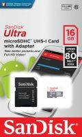 SanDisk Ultra Android microSDHC + SD Adapter 16GB 80MB/s Class 10; EAN: 619659161606