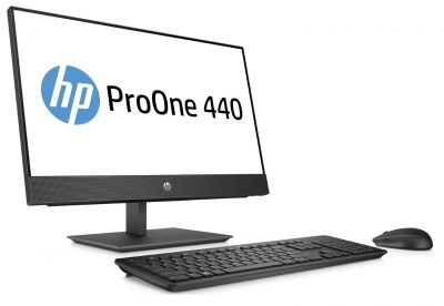 "HP 440G4 AiO NoneTouch Intel® Core™ i5-8500T mit Intel® UHD-Graphics 630 (2,1 GHz base frequensy, up to 3,5 GHz with Intel® Turbo Boost-Technology, 9 MB Cache, 6 Cores)  8 GB DDR4-2666 SDRAM (1 x 8 GB) 256 GB PCIe® NVMe™ SSD DVD/RW 23.8"" diagonal FHD IPS"