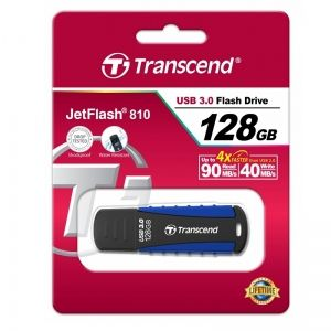 USB памет 128GB Transcend JetFlash 810 USB 3.0, Син